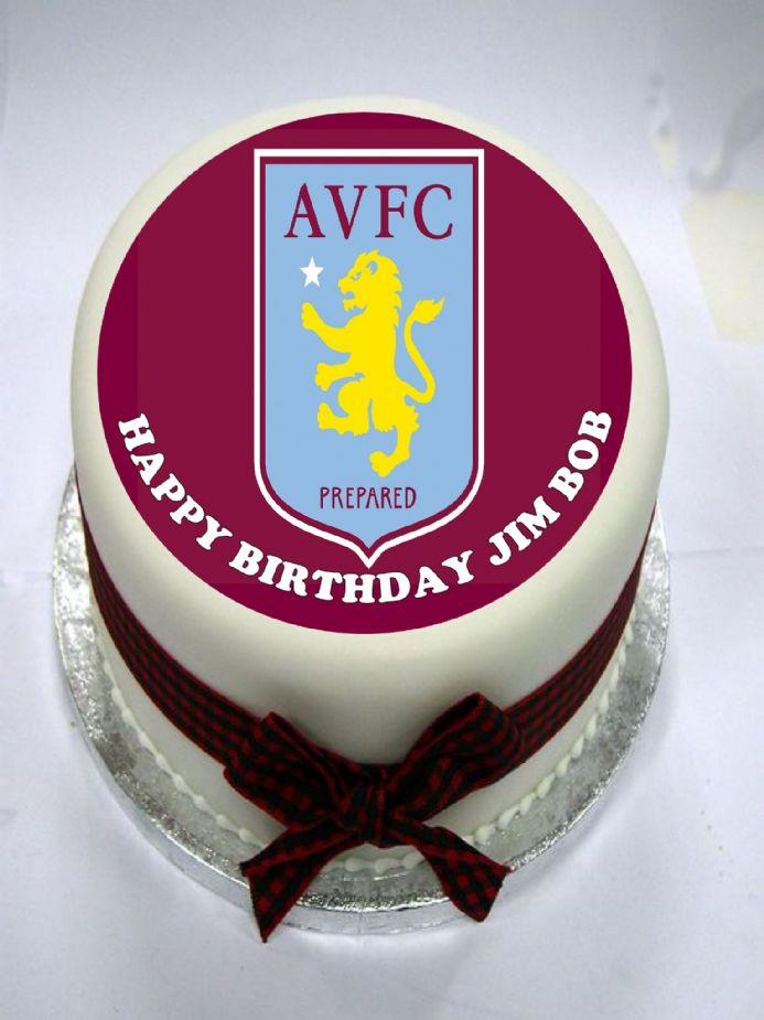 Aston Villa Edible Cake Topper
